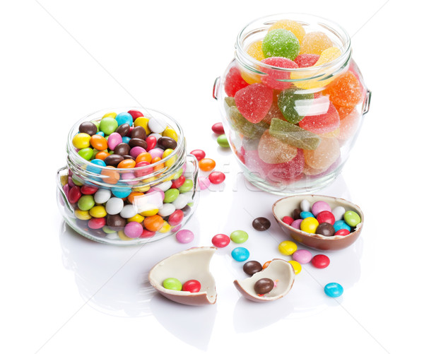 Colorful candies and marmalade Stock photo © karandaev