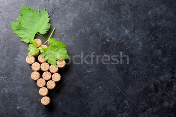 Vinho uva forma videira pedra tabela Foto stock © karandaev