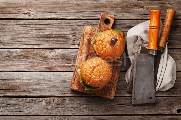 Sabroso a la parrilla carne de vacuno tomate queso Foto stock © karandaev