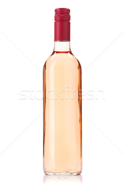 Stock photo: Rose wine bottle