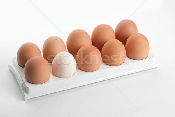 Foto stock: Ovos · ovo · agricultura · recipiente · saudável · mercearia