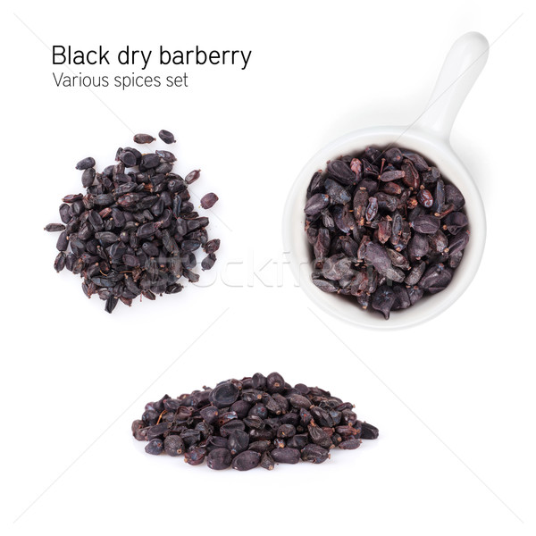 Black dry barberry spice Stock photo © karandaev