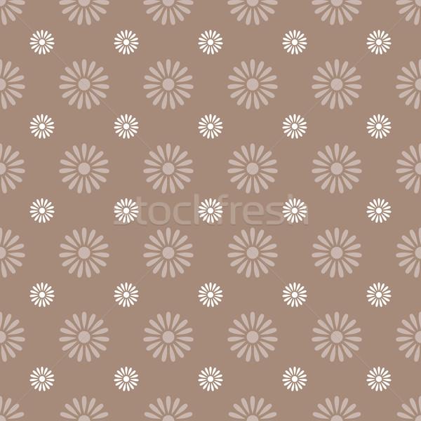 Stock photo: Flower seamless pattern background