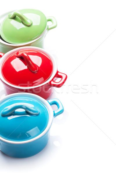 Kolorowy odizolowany biały żywności domu kuchnia Zdjęcia stock © karandaev