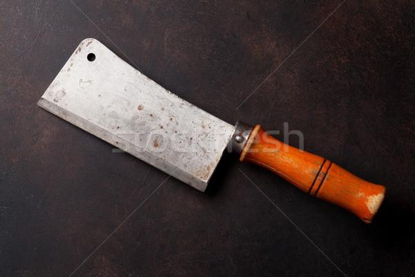 Butcher. Vintage meat knife Stock photo © karandaev