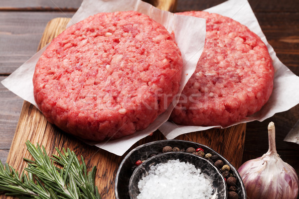 Tasty home made burgers cooking Stock photo © karandaev