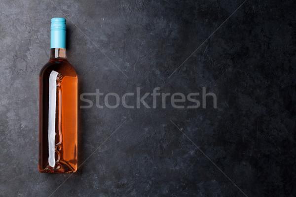 Rose wine bottle Stock photo © karandaev