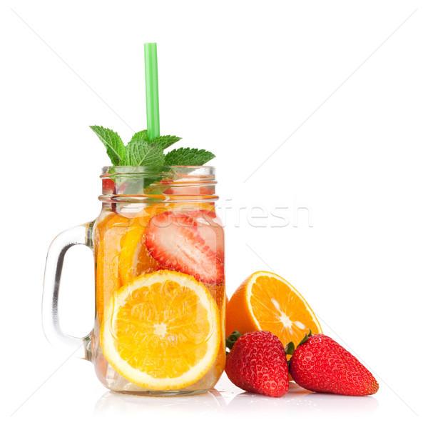 Taze limonata kavanoz yaz meyve karpuzu Stok fotoğraf © karandaev