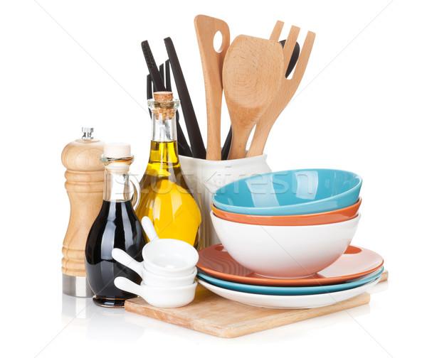 Főzés felszerlés izolált fehér étel otthon Stock fotó © karandaev