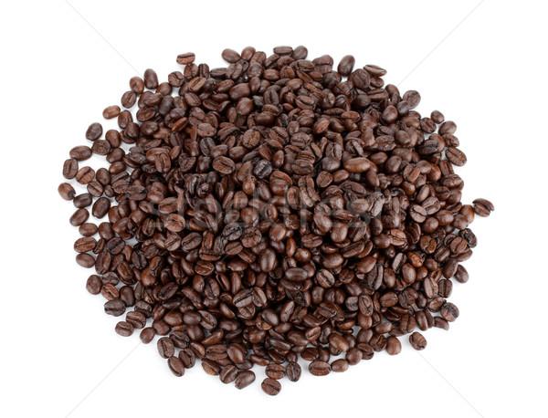 Tas grains de café isolé blanche alimentaire Photo stock © karandaev