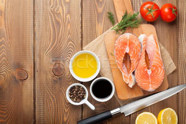 Salmon and spices Stock photo © karandaev