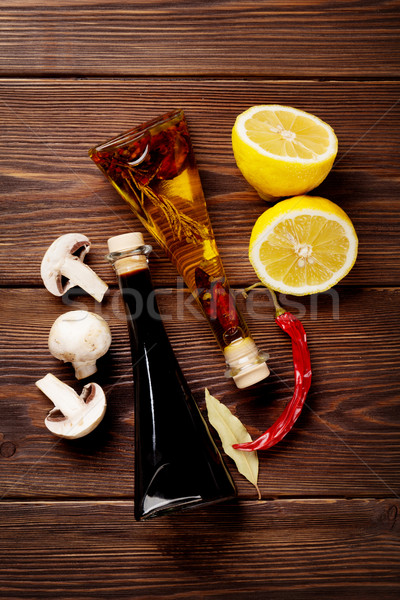 Especias alimentos madera Foto stock © karandaev