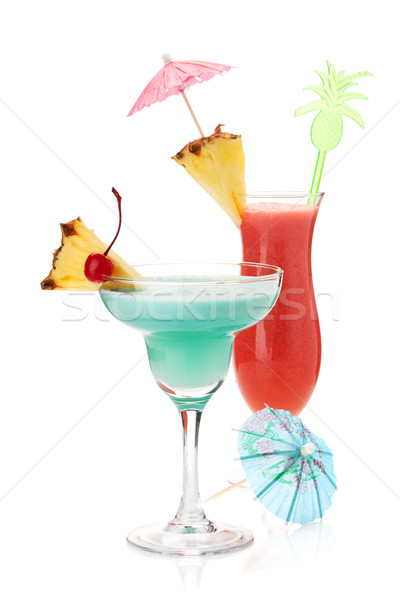 Stock photo: Two tropical cocktails