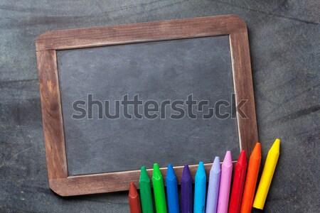 Tableau coloré texte espace de copie école Photo stock © karandaev