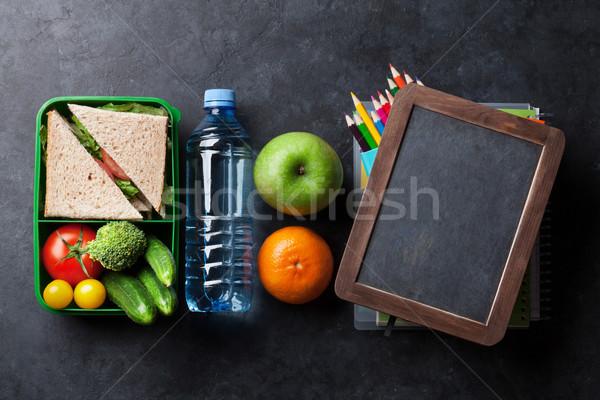 ランチ ボックス 野菜 サンドイッチ 子供 ストックフォト © karandaev