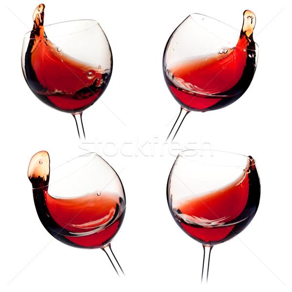 Różny wina kolekcja odizolowany biały Zdjęcia stock © karandaev