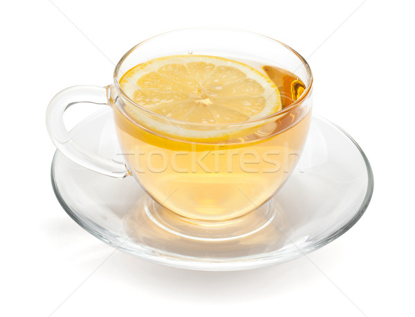 Cup of tea with lemon slice Stock photo © karandaev