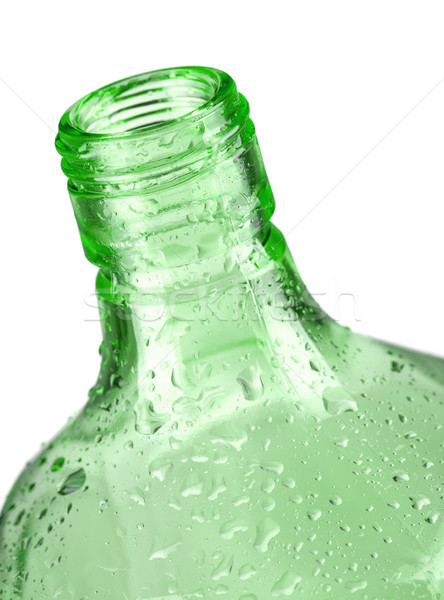 Green bottle closeup Stock photo © karandaev