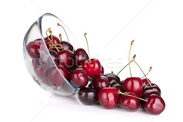 Spilled ripe cherries Stock photo © karandaev