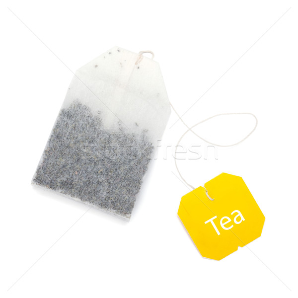 Teabag with yellow label Stock photo © karandaev