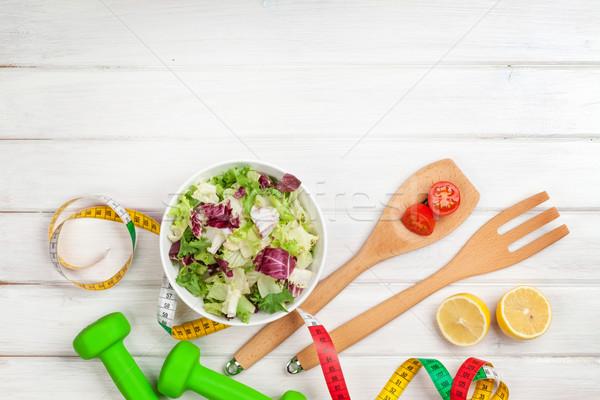 Fita métrica alimentação saudável fitness saúde comida esportes Foto stock © karandaev