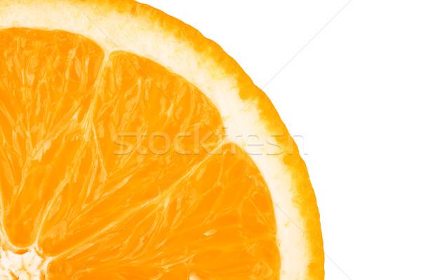 Macro alimentos colección rodaja de naranja aislado blanco Foto stock © karandaev