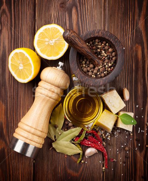 Temperos topo ver comida Foto stock © karandaev