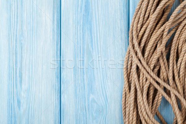 Zee vakantie mariene touw zomer tijd Stockfoto © karandaev