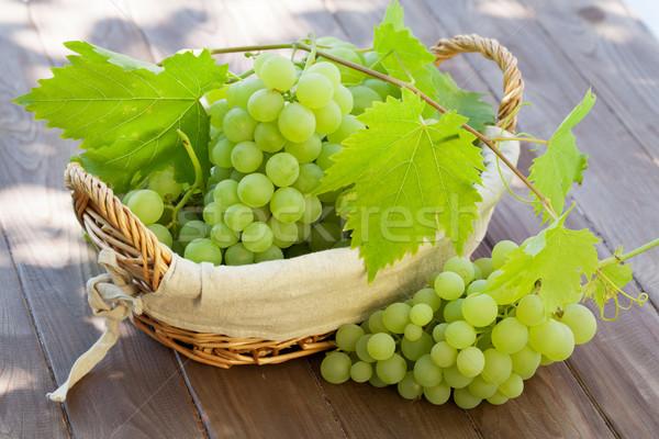 White grape in basket Stock photo © karandaev
