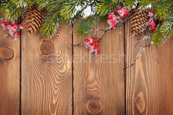Noël bois neige texture arbre Photo stock © karandaev