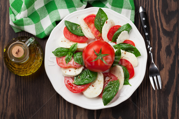 моцарелла сыра томатный базилик Капрезе салат Капрезе Сток-фото © karandaev