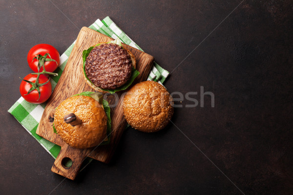 Stock photo: Tasty grilled home made burgers