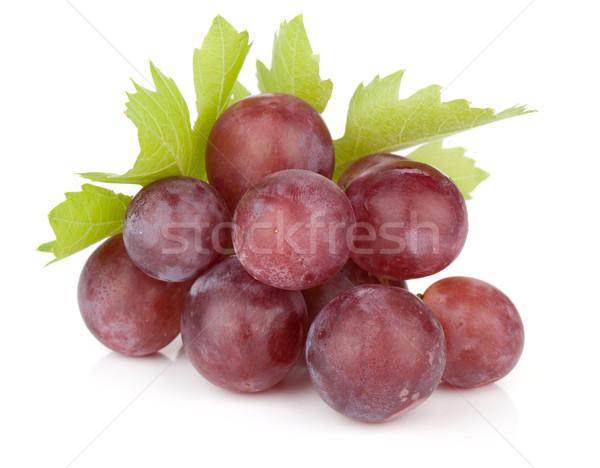 Fresh ripe red grapes Stock photo © karandaev