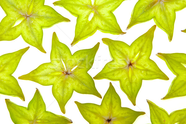 Starfruit (carambola) slices Stock photo © karandaev