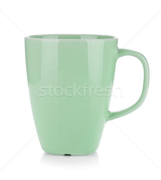 薄緑 コーヒーカップ 孤立した 白 デザイン ガラス ストックフォト © karandaev