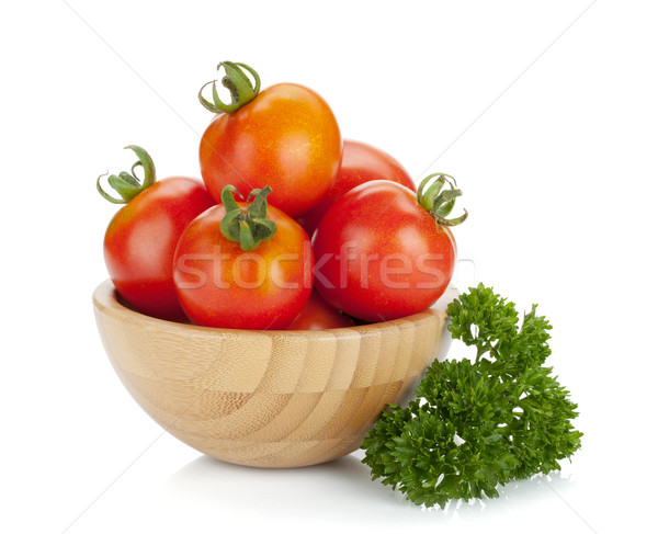 Ripe tomatoes in a bowl Stock photo © karandaev