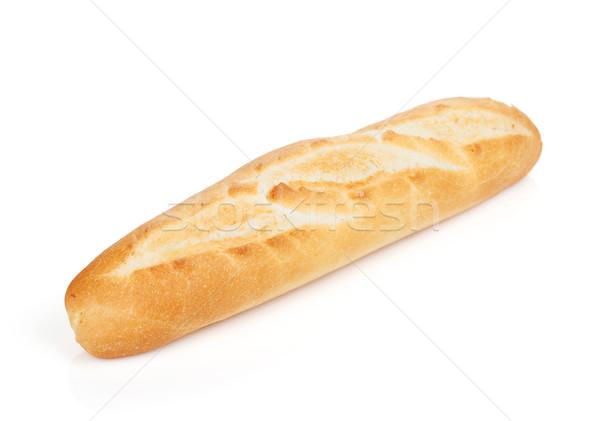 французский багет изолированный белый пшеницы завтрак Сток-фото © karandaev