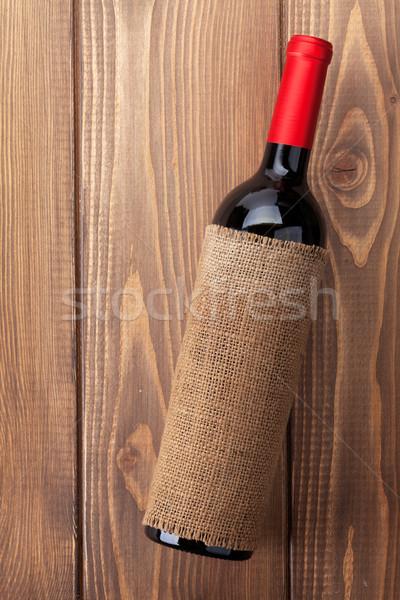 бутылку деревенский деревянный стол текстуры древесины Сток-фото © karandaev