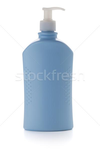 Mavi şampuan şişe yalıtılmış beyaz vücut Stok fotoğraf © karandaev