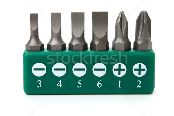 Ingesteld schroevendraaier tools collectie geïsoleerd witte Stockfoto © karandaev