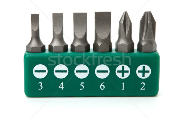 Tournevis outils ensemble isolé blanche Photo stock © karandaev