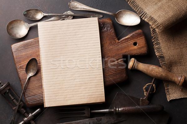 Vecchio vintage cucina forcella coltello Foto d'archivio © karandaev