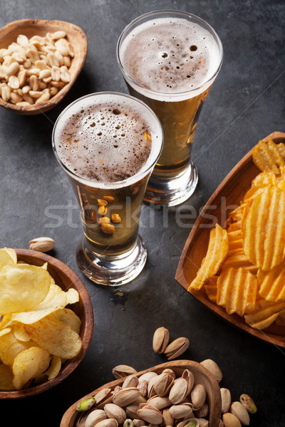 Alman birası bira kupa taş tablo Stok fotoğraf © karandaev