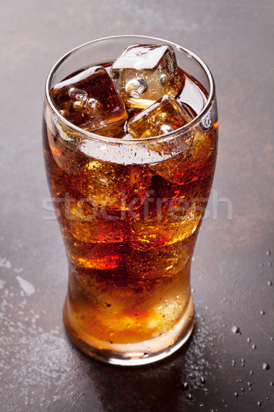 Kóla üveg jég jégkockák háttér ital Stock fotó © karandaev