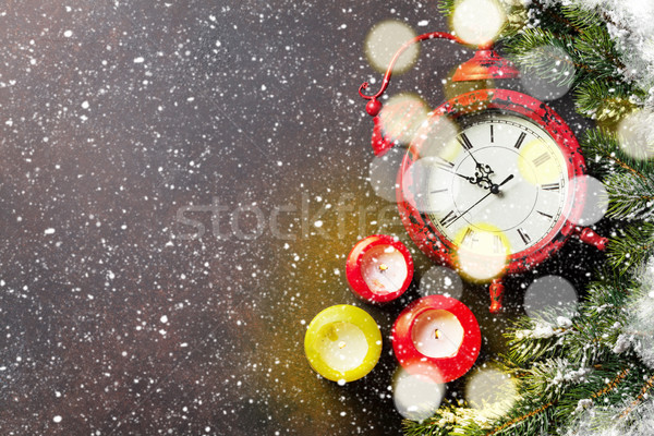 Рождества рождество снега будильник Сток-фото © karandaev
