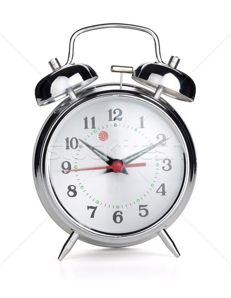 目覚まし時計 孤立した 白 ビジネス 時間 レトロな ストックフォト © karandaev