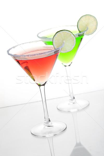 Kettő alkohol koktélok koktél gyűjtemény kozmopolita Stock fotó © karandaev
