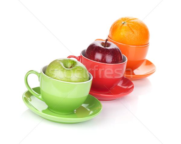 Apple and orange fruit tea Stock photo © karandaev