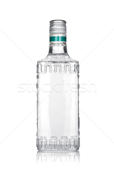 üveg ezüst tequila izolált fehér háttér Stock fotó © karandaev