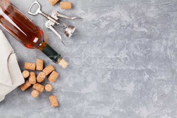 Wine, corks and corkscrew Stock photo © karandaev
